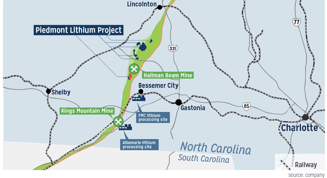Cleveland, Lincoln counties eyeballed for new lithium mine ... on king texas map, king of home, king of orchids, king james map,