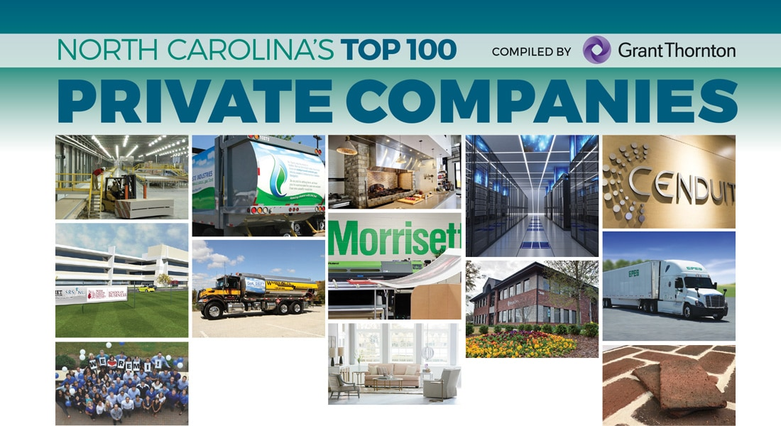 North Carolina's Top 100 Private Companies 2018 - Business North