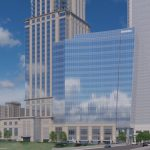 Johno Harris explains his firm's 18-story tower in downtown Charlotte
