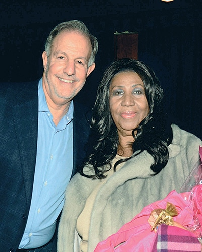 Aretha Franklin and Larry Farber