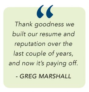 Greg Marshall quote