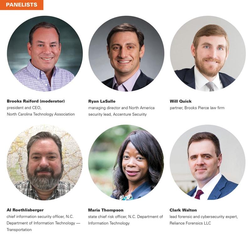 cybersecurity panelists